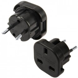 Adaptateur black Uk to europe