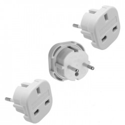 Adaptateur white Uk to Europe